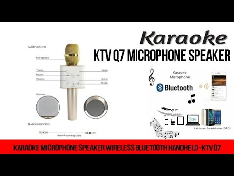 Karaoke Microphone-KTV Q7 Wireless Bluetooth microphone and speaker 2 in 1