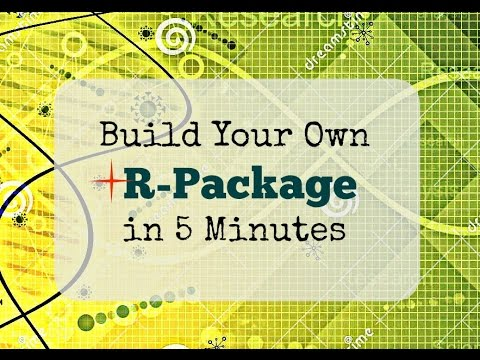 Create an R Package in 5 minutes (from Scratch) using RStudio 3.3.1+