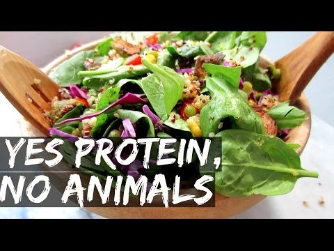 VEGAN SALAD WITH 40g OF PROTEIN?! || RECIPE