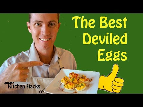BEST DEVILED EGGS - How to make the  | Deviled eggs taste great! THE QUIRKY COWBOY _ Kitchen Hacks