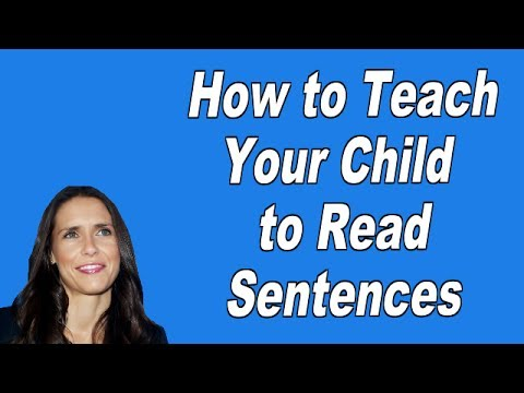 How to Teach Your Child to Read Sentences
