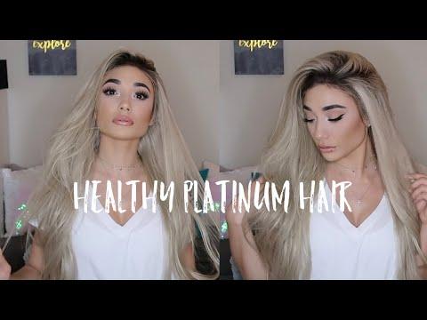 HEALTHY Platinum Blonde  Hair | Tips and Tricks