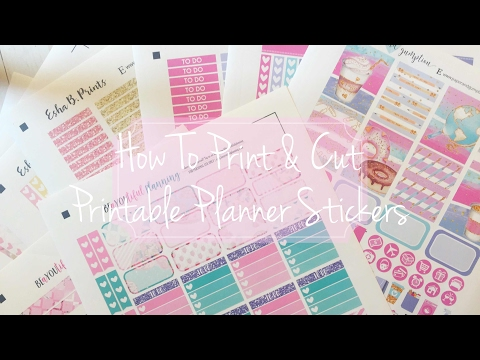 How to Print and Cut Printable Planner Stickers