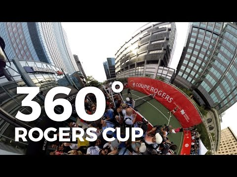 Coupe Rogers Cup 2016 Experience 360 video Eugenie Bouchard
