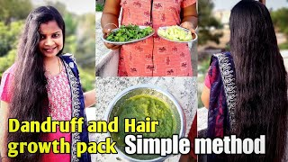 Stop hair fall, dandruff within two weeks/ natural home remedies /hair growth pack /tamil