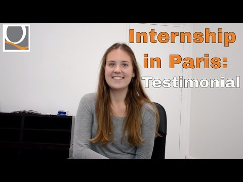Internship in Paris: testimonial