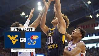 West Virginia vs. No. 14 Kansas Basketball Highlights (2018-19) | Stadium