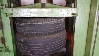 Experiment Tires Vs 200 ton Hydraulic Press The Crusher
