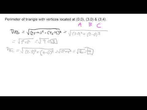 Perimeter of a triangle given coordinates of vertices