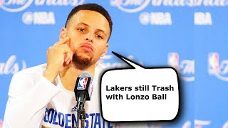 How Stephen Curry Reacted to Lonzo Ball 2017 NBA Draft! Curry Joins Lakers With Kevin Durant