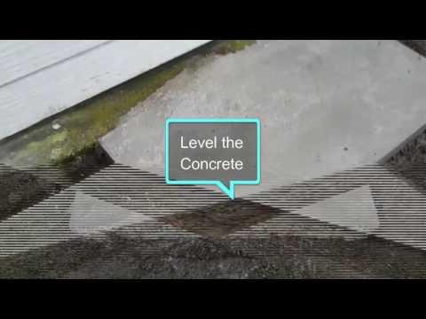 Concrete pad for Heat Pump