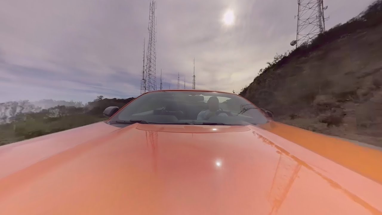 We mounted a 360-degree camera on the hood of a 2016 Mustang GT Convertible