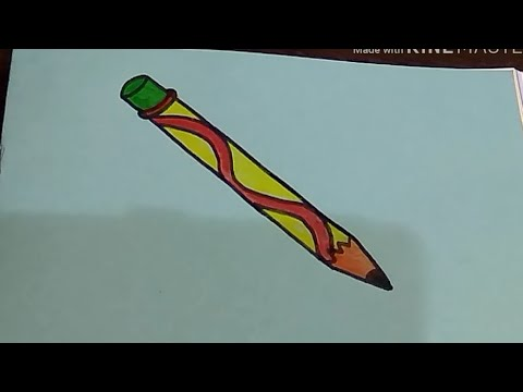 How to draw Cute Pencil !! (Long Object) Easy step by step Fun drawing for kids | by The Arts Center