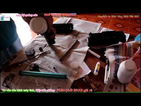 How to refill laser printer toner cartridge Canon LBP 6000