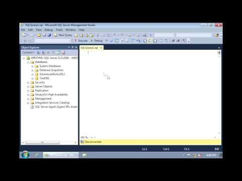 SQL Server 2012 - Creating a database