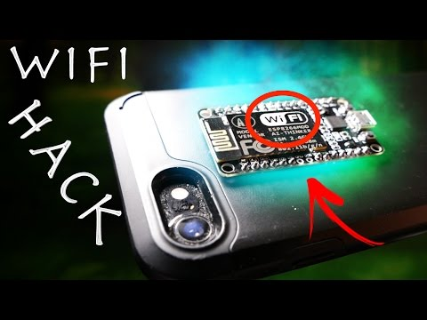 Illegal $8 Wifi Jammer Hack! - Simple Smartphone Spy Gadget!?!?