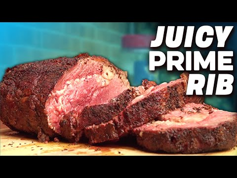 Easy Prime Rib Recipe - Smoked Perfect Medium Rare on a Weber (2018)