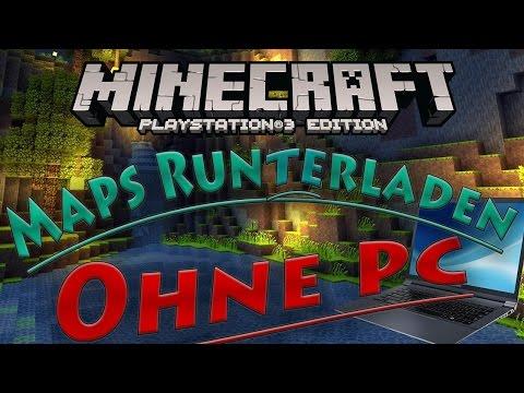 Minecraft PS3 | Maps Runterladen - Ohne PC! / Mit Handy! | TUTORIAL (UPDATE VIDEO)