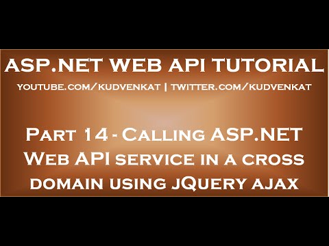 Calling ASP NET Web API service in a cross domain using jQuery ajax