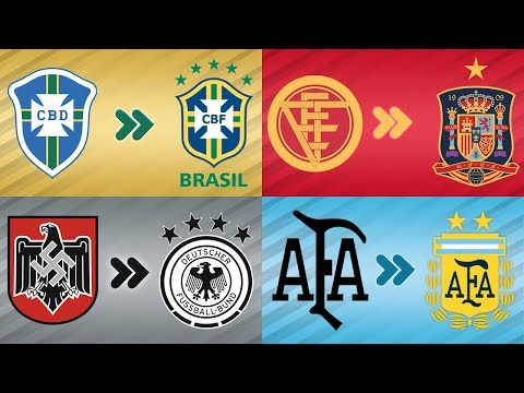 The Evolution Of The Most Famous National Football Teams Logo