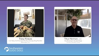 Chats with the CEO: Tracy Krauss and Facility Therapy Dog Patty Mac