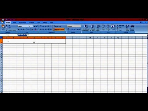 how to merge column and row on excel
