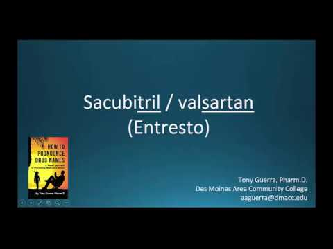 (CC) How to Pronounce sacubitril/ valsartan (Entresto) Backbuilding Pharmacology