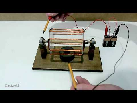 Rotation electric motor, easy homemade