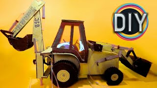 How to Make Hydraulic JCB/Bulldozer From Cardboard - DIY at home