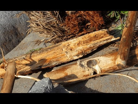 Stone Age Fire From Scratch: Stone Tools Bow Drill