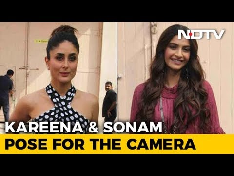 Kareena & Sonam Pose For The Cameras Ahead Of 'Veere Di Wedding' Release