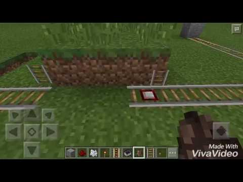 How to make a trap with detector rail in minecraft