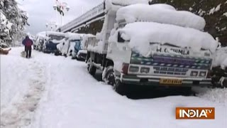 Shimla receives first heavy snowfall of the season; telecom links, power, water supply disrupted