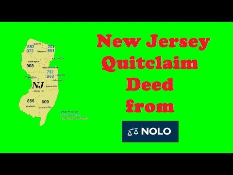 New Jersey Quitclaim Deed from Nolo