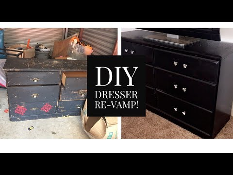 DIY Dresser ReVamp - Dresser Makeover ! | Pre'Knechia Ja'Nae