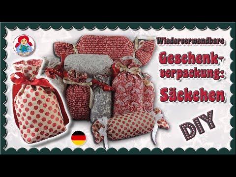 DIY | Wiederverwendbare Geschenkverpackung: Säckchen • Sami Dolls Tutorials