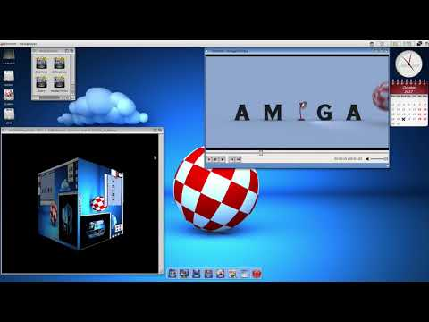 Amiga!   AmigaOne X1000 Warp3DNova BitMapCube example   2017 10 25 16 53 32