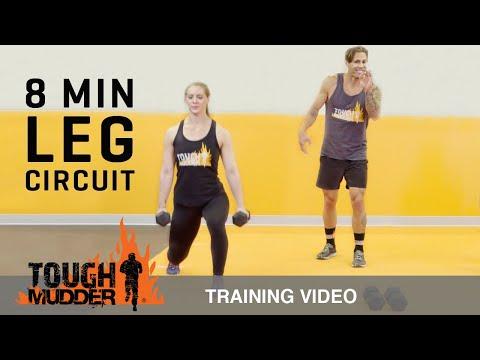 Get Toned Legs: 8 Min At Home Leg Workout - Ep. 6 | Tough Mudder
