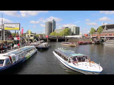 Amsterdam Canal Boat Timelapse
