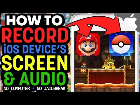 The BEST way to RECORD your iOS Device's SCREEN with AUDIO! (NO JAILBREAK) (NO COMPUTER)