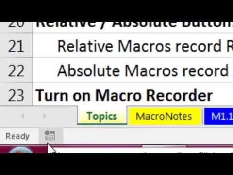 Highline Excel 2016 Class 26: Macro Recorder Basics & Copying VBA Code From Internet