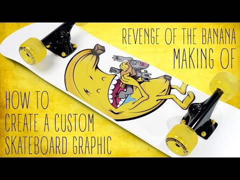 How to create a custom skateboard graphic