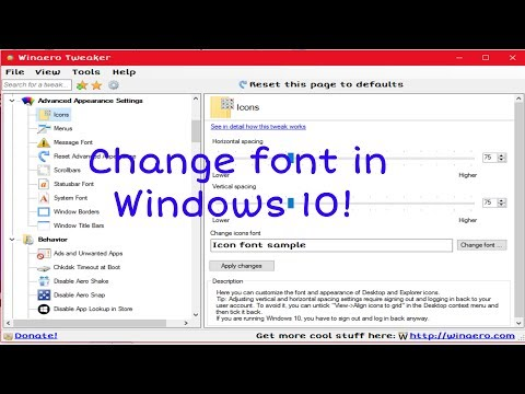 How to change the system font in Windows 10!