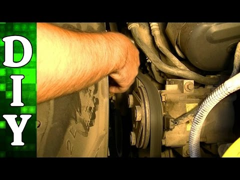 How to Remove and Replace a Serpentine Belt - 2002 Ford F150 4.2L Engine