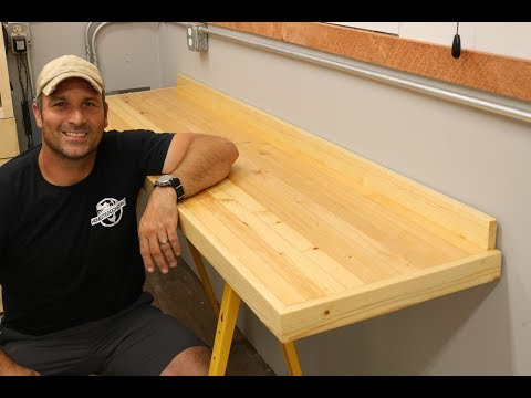 Laminated Workbench Top - How To Make (shipping container shop)