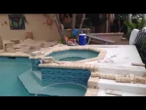 Pool Deck Travertine Install St. Petersburg, Florida - Travertine Pavers