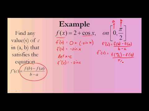 Mean Value Theorem (Calculus)
