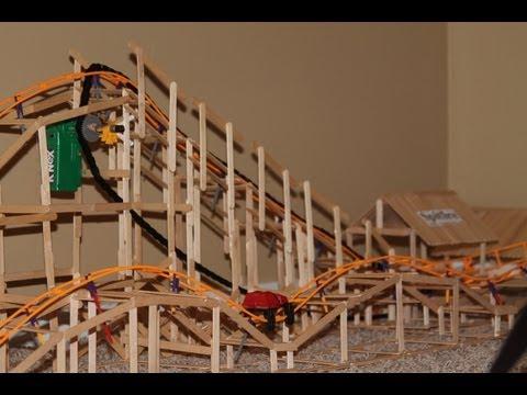 Real Wooden K'nex Roller Coaster SpitFire