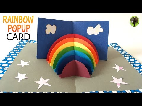 RAINBOW Stand Up POPUP Card - DIY Tutorial by Paper Folds ❤️