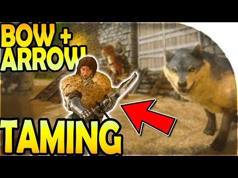 FIRST TAMING / HOW TO TAME - BOW + ARROW PURSUIT ( ARK Survival Evolved Mobile Gameplay Part 2 )